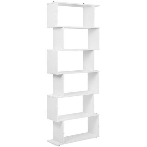 Bookcase Bookshelf Bookshelf Bookshelf S-Shaped Storage Shelf for Office, Living Room, Study Room £¬ white