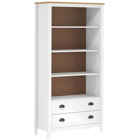 Bookcase Hill Range White 85x37x170.5 cm Solid Pine Wood - White