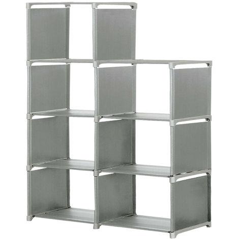 Bookcase Storage Bin Books Display Shelf Organizer Shelf 5 Shelves Storage Shelves