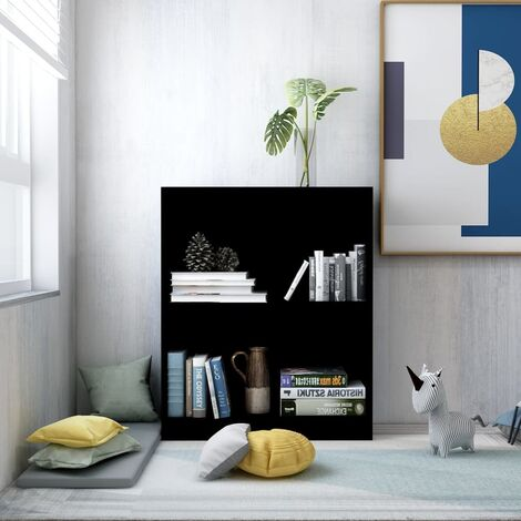 "main image of ""Bookshelf Black 60x24x74.5 cm Chipboard - Black"""