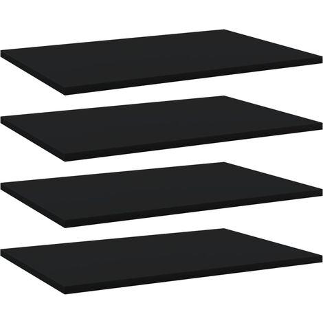 Bookshelf Boards 4 pcs Black 60x40x1.5 cm Chipboard
