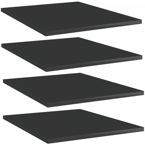 "main image of ""Bookshelf Boards 4 pcs High Gloss Black 40x50x1.5 cm Chipboard37779-Serial number"""