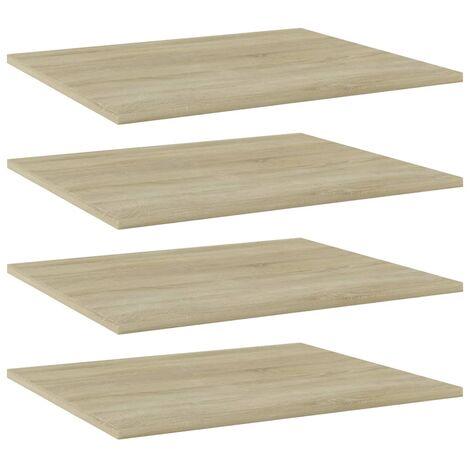 Bookshelf Boards 4 pcs Sonoma Oak 60x50x1.5 cm Chipboard