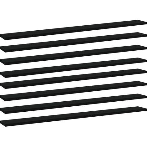 Bookshelf Boards 8 pcs Black 100x10x1.5 cm Chipboard