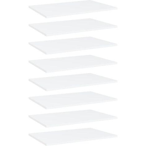 Bookshelf Boards 8 pcs White 60x40x1.5 cm Chipboard