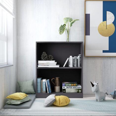 "main image of ""Bookshelf Grey 60x24x74.5 cm Chipboard - Grey"""