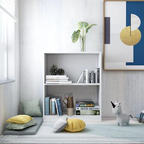 Bookshelf High Gloss White 60x24x74.5 cm Chipboard