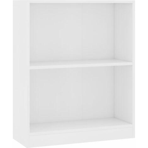 Bookshelf White 60x24x74.5 cm Chipboard