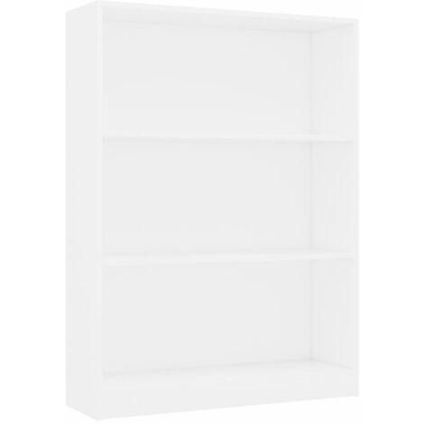 Bookshelf White 80x24x108 cm Chipboard