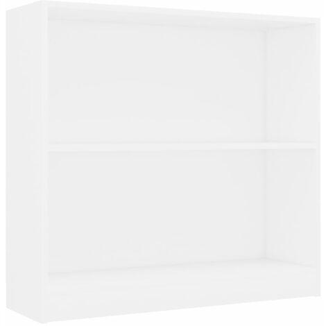 Bookshelf White 80x24x75 cm Chipboard