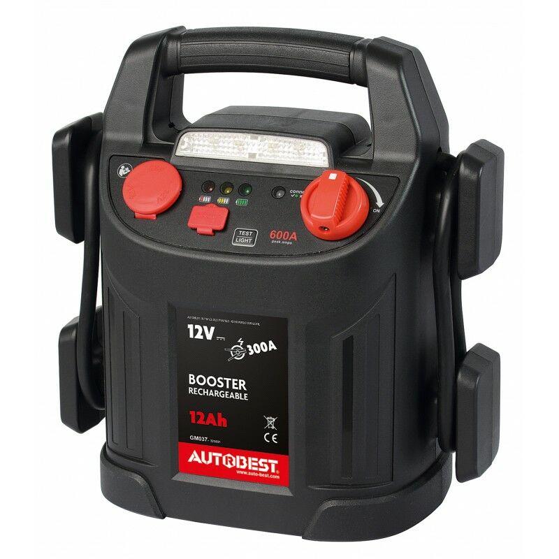 Booster de batterie 12Ah fonction aide au démarrage 300 A AUTOBEST
