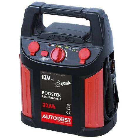 Booster de batterie 22 Ah fonction aide au démarrage 600 A - AUTOBEST