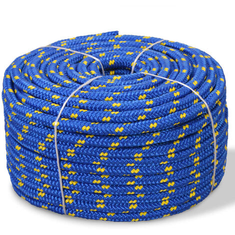 Bootsseil Polypropylen 10 mm 50 m Blau