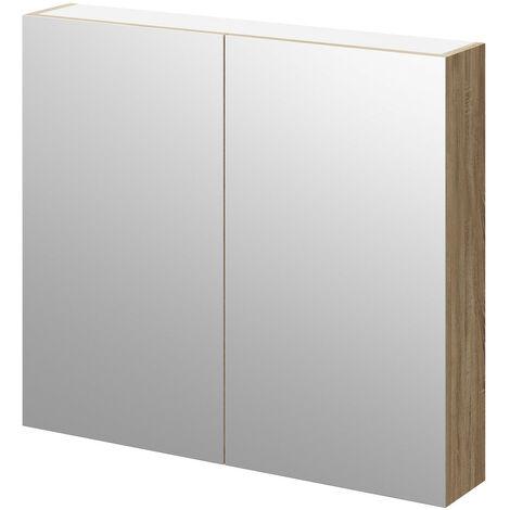 Bordalino Oak 800mm Mirror Wall Cabinet