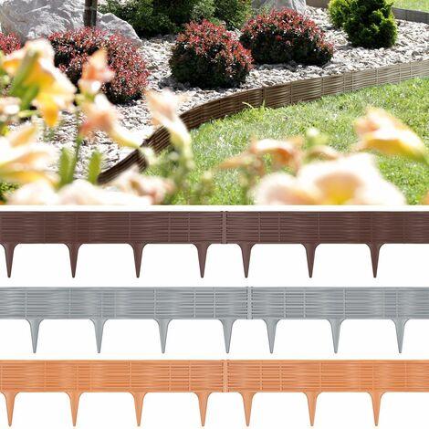 Borde de césped 7,8m borde macizo plantas flores empalizada de jardín bordillo valla de jardín braun / 3,9 m (de)