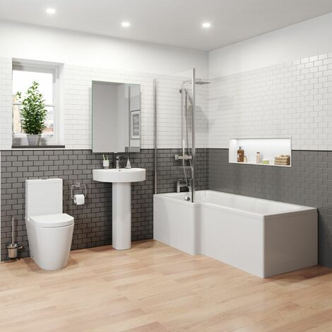Bordeaux L Bathroom Suite - Left Hand