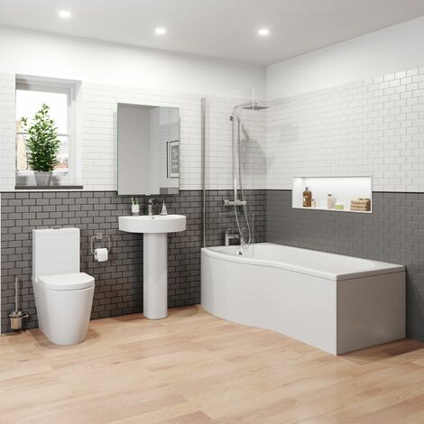 Bordeaux P Bathroom Suite - Left Hand
