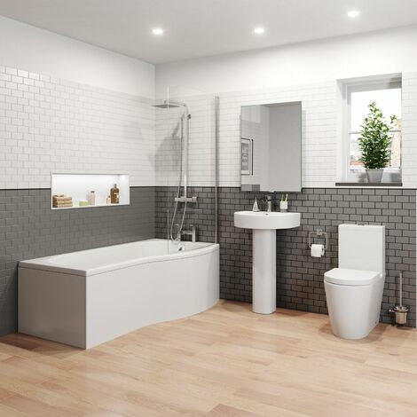 Bordeaux P Bathroom Suite - Right Hand