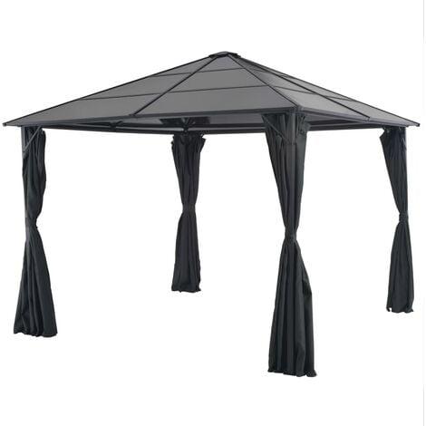 Bordelon 3m x 3m Steel Patio Gazebo by Dakota Fields - Black