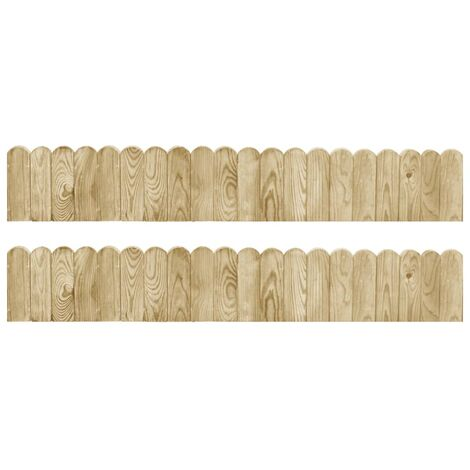 Border Rolls 2 pcs 120 cm Impregnated Pinewood