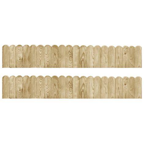 Border Rolls 2 pcs 120 cm Impregnated Pinewood - Green