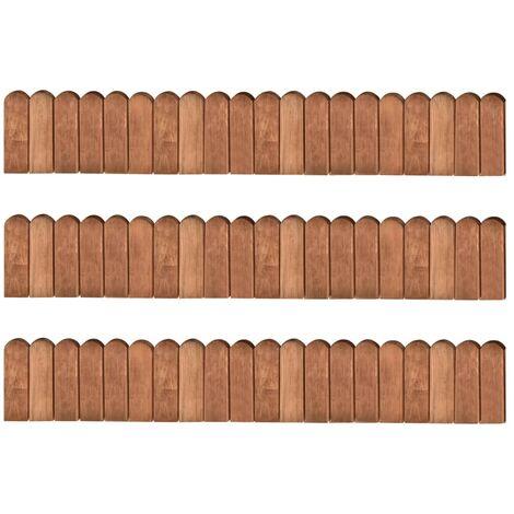 Border Rolls 3 pcs 120 cm Impregnated Pinewood