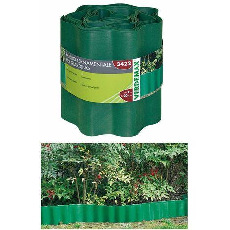 Bordo ornamentale giardino polietilene recinzione delimitare prato verdemax 3422