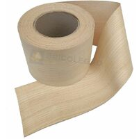 Bordo tranciato impiallacciatura legno frassino precollato da 200 mm