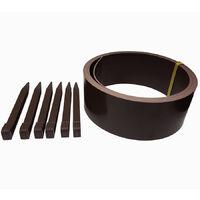 bordura da 5 metri in plastica marrone per aiuole e giardino + 6 picchetti