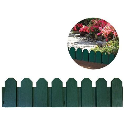 Bordura De Polietileno Color Verde 20X80Cm (Pack 4 Unidades) Incluye Piqueta De Fijacion - NEOFERR