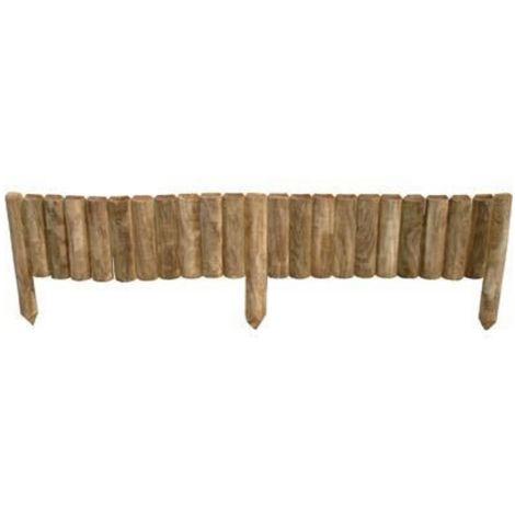 Bordura per aiuola in legno di pino impregnato cm. 100x20/35