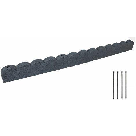 Bordura per aiuole 120x5x10cm - grigio