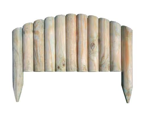 Steccato Estensibile Giardino : Bordura steccato vampiro per aiuole giardino in legno di pino cm