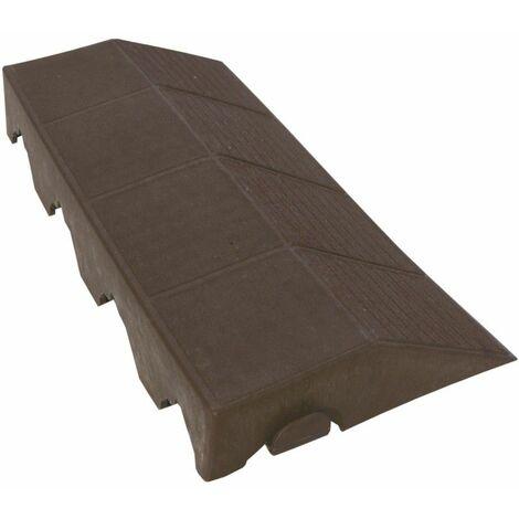 Bordure clipsable pour dalles ajourées - 40 x 19 cm - Marron - Marron
