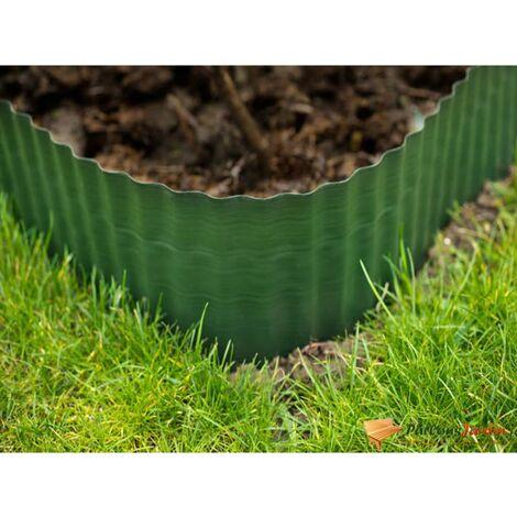Bordure de gazon en polyéthylène vert H20cm x L9m