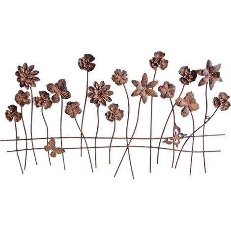 Bordure de jardin décorative fleurs