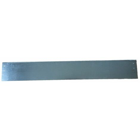 Bordure de jardin droite en métal galvanisé 99 x 14 cm - Métal brut - Métal brut