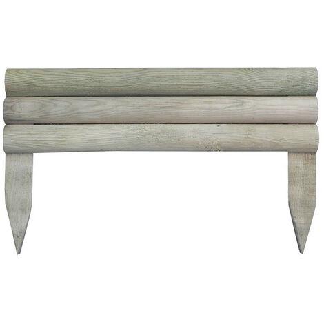 Bordure de jardin en bois - Bûches horizontales - 50 x 14/30 cm