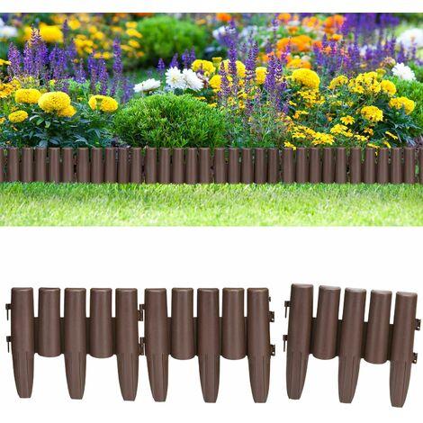 Bordure de jardin en plastique Délimitation pelouse parterre allées Palissade de jardin 8x Palissades = 2,24 m pelouse 2,24m (de)