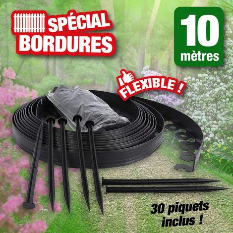 Bordure de jardin flexible 10 mètres de long