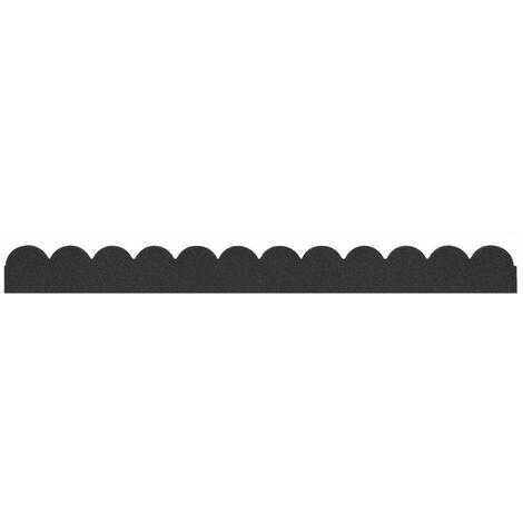 Bordure de jardin flexible, 120x5xh9cm, gris, caoutchouc