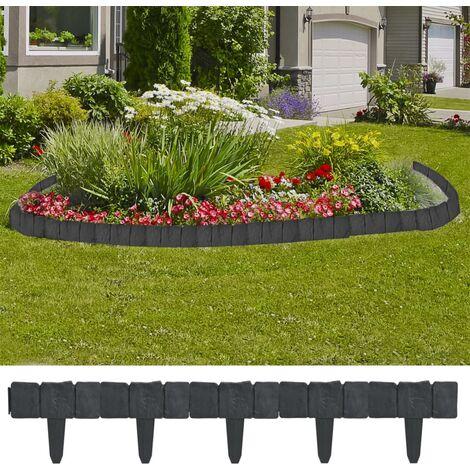 Bordure de jardin imitation pierre 41 pièces 10 m