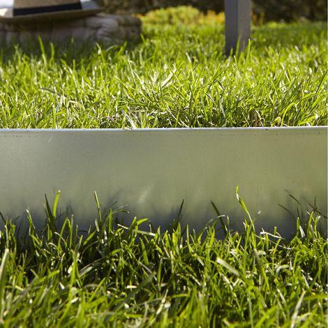 Bordure de jardin pleine - Acier galvanisée - 120x14 cm