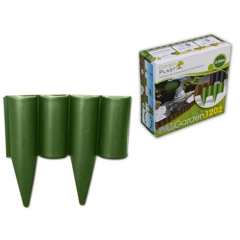 Bordure de jardin verte PALGARDEN longueur 2.5 m hauteur 22.5 cm