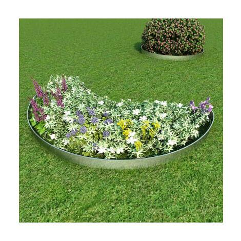 Bordure de pelouse 5 pcs Acier galvanise 100 x 20 cm