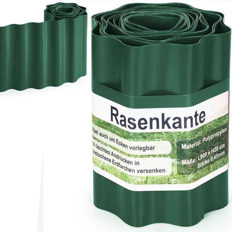 Bordure délimitation séparation jardin pelouse plate-bande 9m vert ...