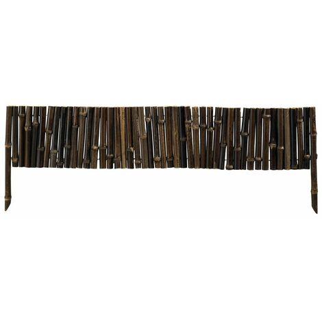"""Bordure en bambou """"Bamboo Border"""" - 0,35 x 1 m - Marron"""