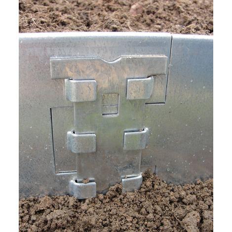Bordure jardin metal 80 mm en 1 90 m a la pi ce 240089 - Bordure de jardin metal ...