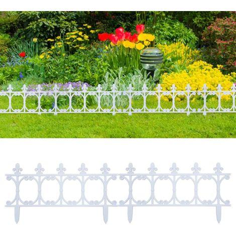 Bordures de jardin 16 pcs Blanc 10 m PP