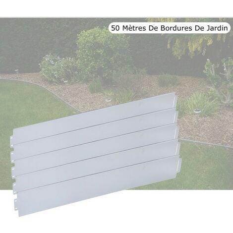 Bordures De Jardin, En Métal, à Clipser, Longueur De 50 Mètres.